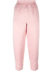 Stussy Cropped Track Pants Pink Purple