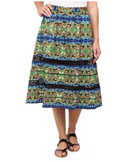 Sam Edelman Midi Skirt W Faggoting Trim Multi Women's Skirt