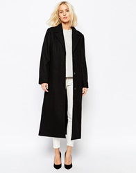 Weekday Long Mannish Overcoat Black