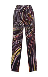 Zuhair Murad Cady Trousers In Swirling Stripes Print Multi