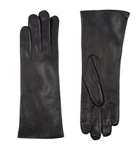 Harrods Of London Cashmere Lined Leather Gloves Female