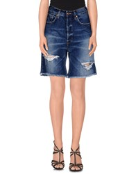 People Denim Denim Bermudas Women Blue