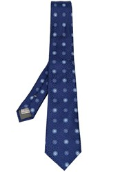 Canali Embroidered Tie Blue