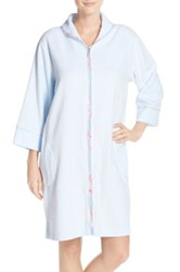 Carole Hochman Front Zip Terry Robe Blue