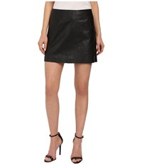 Bb Dakota Ian Leather Mini Skirt Black Women's Skirt