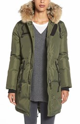 Women's Pajar 'Christina' Genuine Rabbit And Coyote Trim Long Down Parka