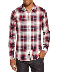 Rails Lennox Plaid Regular Fit Button Down Shirt Grenadine Navy