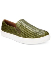 Wanted Boca Woven Slip On Sneakers Women's Shoes Olive