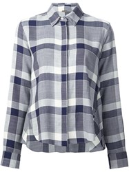 Adam By Adam Lippes Checked Trapeze Shirt Blue