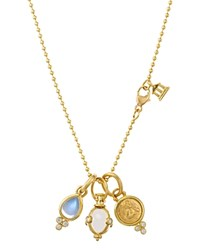 Temple St. Clair 18K Yellow Gold Three Charm Gift Set With Chain 16 Gold Multi