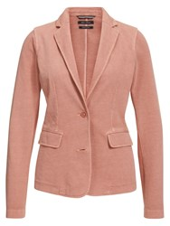 Marc O'polo Jersey Blazer In Pure Cotton Orange