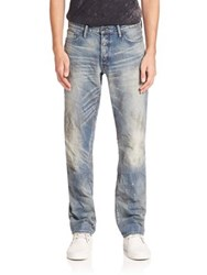 Prps Splatter Medium Wash Jeans Blue