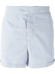 Moncler Gamme Bleu Striped Shorts Blue