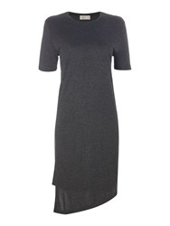 Label Lab Double Layer Jersey Dress Charcoal
