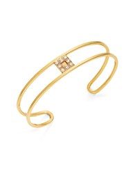 Gerard Yosca Pave Square Bangle Bracelet Gold