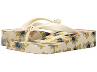 Tory Burch Classic Wedge Flip Flop Ivory Avalon Women's Sandals Yellow