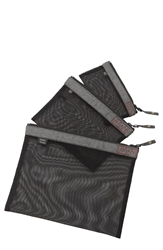 Sons Of Trade 'Assignment Kit' Zip Mesh Storage Bags Heathered Grey