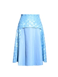 Toga Moire Check Print Pleated Skirt