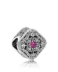 Pandora Design Charm Sterling Silver Cubic Zirconia And Crystal Fairytale Treasure Moments Collection