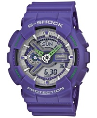 G Shock Men's Analog Digital Purple Resin Strap Watch 55X51mm Ga110dn 6A No Color