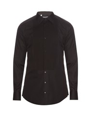 Dolce And Gabbana Gold Fit Single Cuff Cotton Dinner Shirt Black