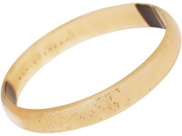 Monique Pean Women's Buffalo Horn Bangle With White Diamonds No Color