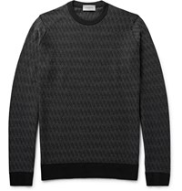 John Smedley Wickson Melange Merino Wool Sweater Black