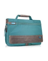 Piquadro Nimble Fabric And Leather Briefcase Blue