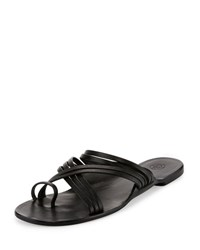 The Row Cannes Strappy Flat Sandal Black