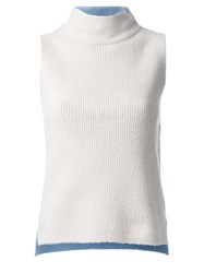 Guild Prime Sleeveless Mock Neck Top White