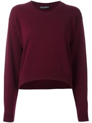 Dolce And Gabbana Cropped Jumper Red