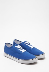 Forever 21 Classic Lace Up Sneakers Royal