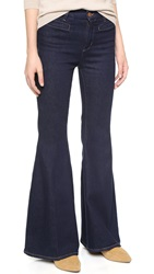Mih Jeans The Principle Petite Super Flare Jeans True Blue Two