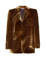 Vetements Patch Pocket Velvet Blazer Gold