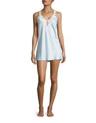 Flora Nikrooz Lace Trimmed Chemise Blue