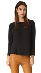 Diane Von Furstenberg Galia Top Black