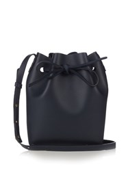 Mansur Gavriel Mini Leather Bucket Bag Navy
