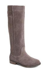 Sole Society 'Kellini' Suede Knee High Boot Women Grey Suede