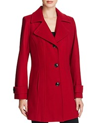 Anne Klein Wool Blend Single Breasted Peacoat Compare At 250 Red