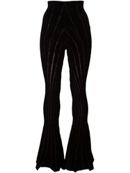 Alyx Sheer Detailing Flared Trousers Black