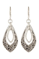 Lois Hill Sterling Silver Granulated Teardrop Earrings No Color