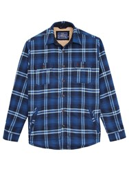 Joules Check Classic Fit Overshirt Navy