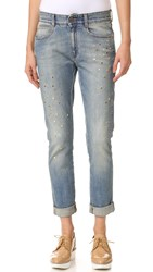 Stella Mccartney Skinny Boyfriend Jeans Pale Blue