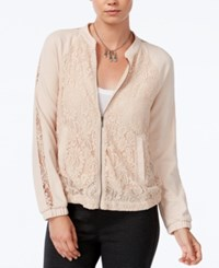 Bar Iii Lace Bomber Jacket Only At Macy's Ballet Pink