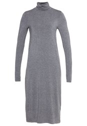 Zalando Essentials Jersey Dress Dark Grey Melange Mottled Dark Grey