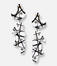 Christopher Kane Hand Laser Cut Earrings Black