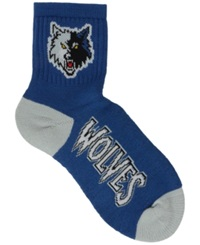 For Bare Feet Minnesota Timberwolves Ankle Tc 501 Med Socks Black Blue