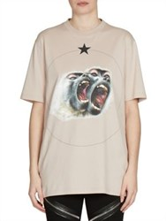 Givenchy Monkey Brothers Printed Jersey Tee Pale Pink