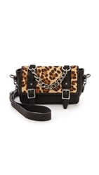 Ash Haircalf Britt Cross Body Bag Leopard