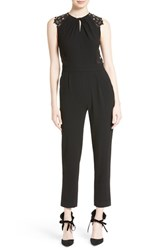 Rebecca Taylor Women's Crepe And Lace Jumpsuit